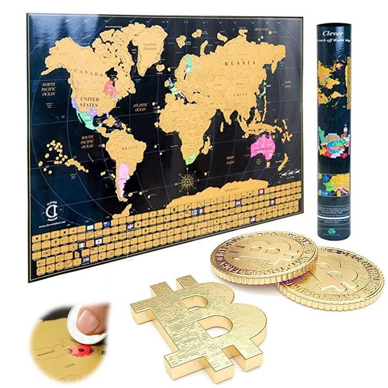 Qoo10 Landmass Scratch Off World Map Poster Original Travel