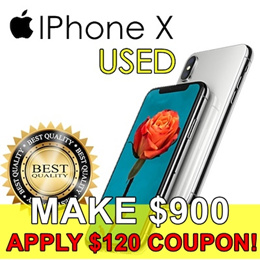 Used Original iPhone X Unlocked A or B Grade 256GB / 64GB