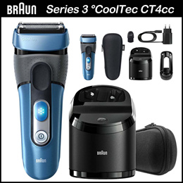 Braun Series 3 CoolTec CT4cc Wet  Dry Electric shaver Active Cooling Technology Clean Charge station