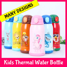 Thermal Kids Children Water Bottle Flask Cup Thermos Stainless Steel Insulated 304 Tumbler BPA Free