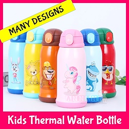 Thermal Kids Straw Water Bottle Flask Cup Jar Thermos Stainless Steel Insulated Children Tumbler BPA