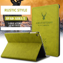 [100% GOOD QUALITY!]  ★Rustic Style Cases for all iPad models :: with smart cover