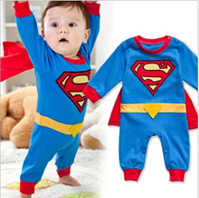 Cute Baby Boy Girl Kids Hero Cosplay Custume Rompers Superman Batman Spiderman
