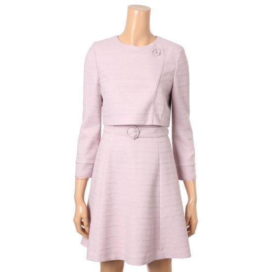 チンウォンイエンシ、のツーピース感じフレアワンピースENOW72342W 面ワンピース/ 韓国ファッション