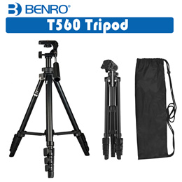 Benro T560 Portable Lightweight Aluminum Travel Tripod for Photography Videography