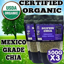 [1st 100 Sets ONLY!!] 3 x 500G Chia Seeds ★GUARANTEED HIGHEST QUALITY IN QOO10★ USDA Certified Organic Chia Seeds