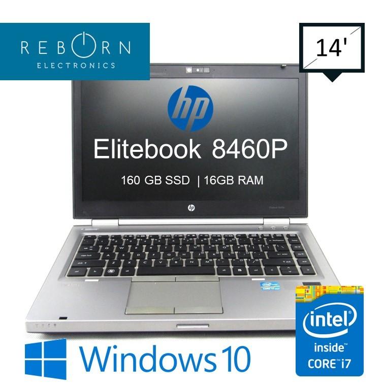 HP[Refurbished] HP Elitebook 8460P / IntelCore I7 2rdGen / 160GB SSD/ 16GB  RAM / Wins10/30daysWarranty