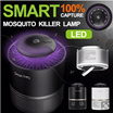 ★ 100% Capture★ Smart Frog UV LED Mosquito Killer Lamp / Mosquitoes Fly Killer Lamp / Bug Flying Insect Pest Zapper Lighting Sucking Device / Physical Effect / Clean Air /