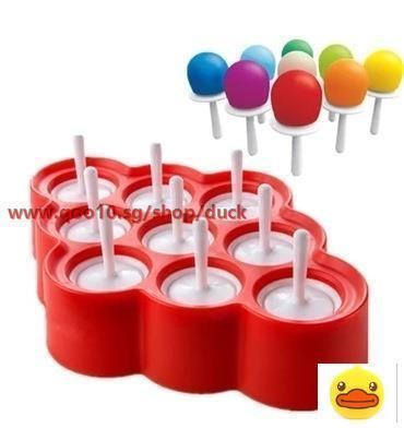 QXM 10 Even Ice Cream Mold Silicone Ice Cream Popsicle Diy Mold Creative Ice Box Popsicle Mold