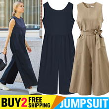 Buy 2 Free Shipping Round Big Jumpsuit Plus Size Double Pocket Jumpsuit Trousers Bib Pants