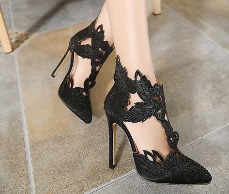 Euro Leaf Design 11CM High Heel (Size35