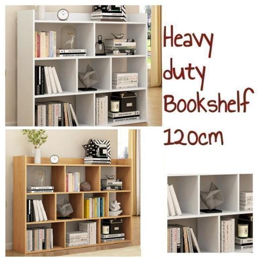 Qoo10 Heavy Duty Bookshelf 120cm, Heavy Duty Furniture