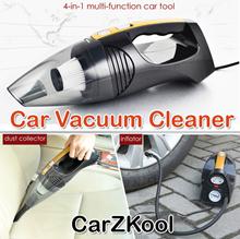 [CarZKool] CZK-6101 Car Dust Collector Flashlight Inflator Pump Tire Gauge/handheld vacuum cleaner/v