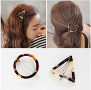 6217 Korean version of simple temperament leopard triangle circular No. bangs clip hairpin top folder headdress issuing sub