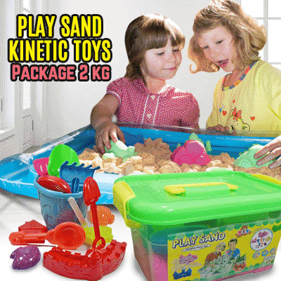 Mainan Pasir Ajaib Kinetik Model Sand Play Sand Paket Jumbo 2 kg Deals for only Rp255.900 instead of Rp255.900