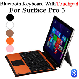 For Microsoft Surface Pro 4 12.3/Surface Pro 3 Tablet Wireless Bluetooth Keyboard Detachable Removable ABS Keyboard Skin Cover w/ Touch Pad