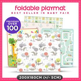 ❤️Qoo10 Exclusive❤️BabyFair Best Seller❤️ Foldable Toddler PlayMat ❤️Baby Play Mat ❤️Double Sided
