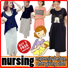 Maternity dress/ Nursing Wear Tops/ Breastfeeding Clothes/ Summer Pregnant Women Clothing Plus Size