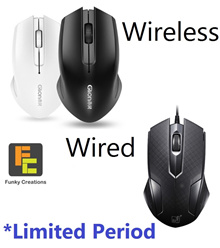 [Funky Creations] Wired and Wireless mouse for daily use | Rapoo | Smooth usage Low battery usage