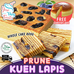 New PRUNE KUEH LAPIS!! 1 Whole Cake with Free Cheesecake FREE DELIVERY!!