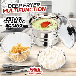 Deep Fryer 22 cm Multifungsi 3 in 1 - Stainless Free Penjepit Makanan  SJ0097