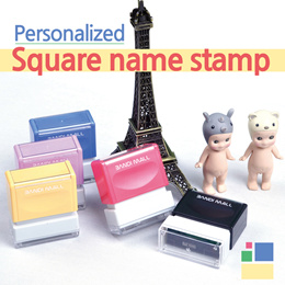 Square Stamp / Personalized Pre-inked stamp / clothing stamp
