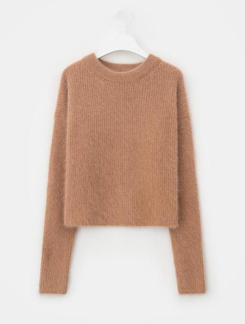 8SECONDS Angora Round Neck Knit Pullover - Beige