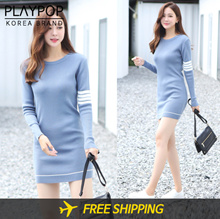 🏆round neck knit mini dress🍒 WOMAN/TOP/LONG SLEEVE/KNIT/DRESS ✈️Free Shipping