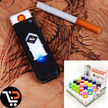 Portable Rechargeable No Gas USB Electronic Charger Flameless Windproof Lighter