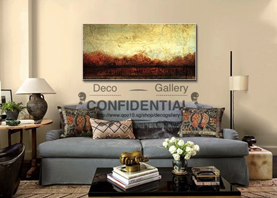 Qoo abstract painting furniture deco