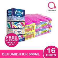 [RB]【Bundle of 2】Thirsty Hippo Dehumidifier 600ml x 16 + Free Kleenex Facial Tissue
