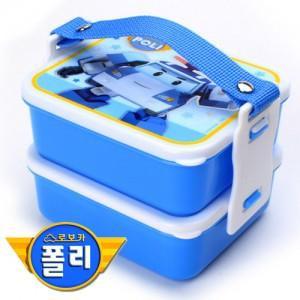 dfd75bddc24 Qoo10 - Picnic Lunch box☆ Pororo POLI Bucket Lunchbox Bag korea ...