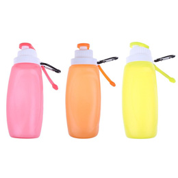 Portable Creative Silicone Foldable Water Bottle Outdoor Camping Hiking Travel Sports Kettle Collaps