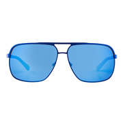 【Focus Point】 Square Blue Sunglasses GU6840