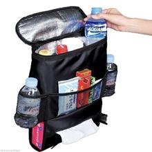 Multi-purpose Car Seat Back Organizer Multi-functional Insulation Travel Storage Bag With Side Pocke