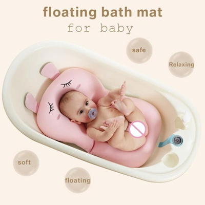 Qoo10 Foldable Baby Bath Mat Cushion Cartoon Rabbit Elephant