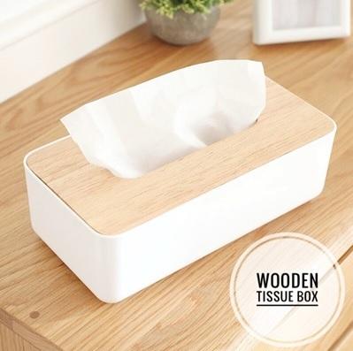 Scandinavian Wooden Tissue Box Holder Muji Style