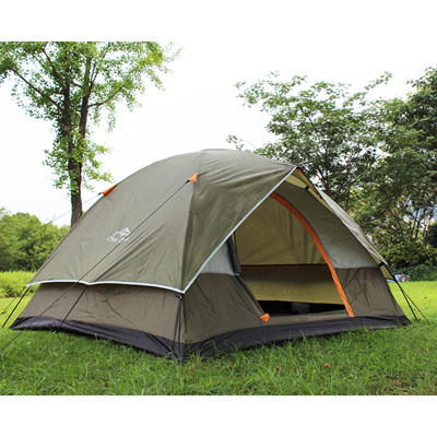 Portable 4 Person Tent Auto Pop Up C&ing Double-layer Waterproof Dome Shelter  sc 1 st  Qoo10 & Qoo10 - Portable 4 Person Tent Auto Pop Up Camping Double-layer ...