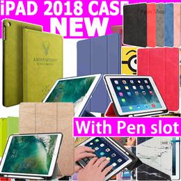 New Arrival Smart Leather Stand Pencil case for iPad 9.7 2018 New iPad 2017 iPad Pro 10.5 iPad 5 6