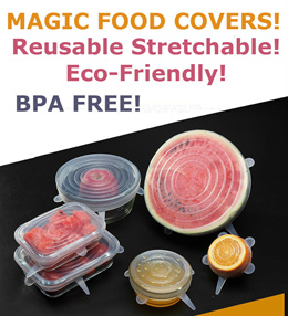[3/6pcs a set]Reusable Silicon Food Covers/Stretchable/Air Tight/Microwave Safe/LeakProof