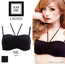 Black Label 3-Way Half Cup Tube Top (Sizes M-L)(1312236)
