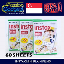 [Free Gift]♥Instax Mini Plain Films 60 sheets 6 packs Polaroid Mini 90 8 7s 25 90 50s Share printer