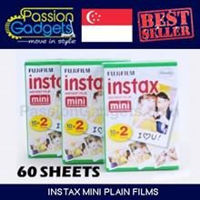 [Free Gift]♥Instax Mini Plain Films 60 sheets 6 packs Polaroid Mini 90 8 7s 25 90 50s Share printer