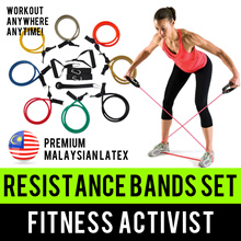 ⏰💪★★Premium Malaysia Latex★★Complete Resistance Elastic Tube Bands Set★★Fitness Activist★★