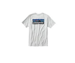 파타고니아 P-6 로고 코튼 티셔츠 화이트