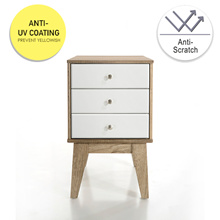 SO Cevo 3 Drawer Night Stand / Side Table / Drawer Stand