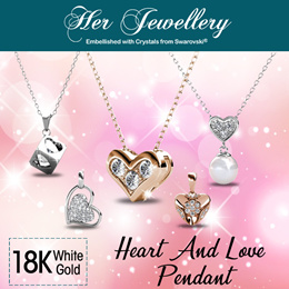 f85af0aa5 Embellished with Crystals from Swarovski® - Her Jewellery Heart n Love  Pendant Series