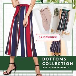 Elastic Waist Culottes Print Plain colour ★★CRAZY PRICE/Culottes/Lounge wear/Everyday wear/Ladies