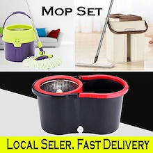 [Local Seller] 360 Degree Rotate Mop / Automatic Spin Dry Mop /  Durable Stainless Steel