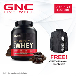 NO.1| Whey Protein | GNC | FREE ON Windbreaker (99703070) | OPTIMUM NUTRITION (5LB) GOLD STANDAND